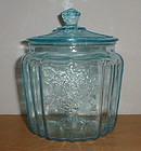 BLUE MAYFAIR Cookie Jar & Lid