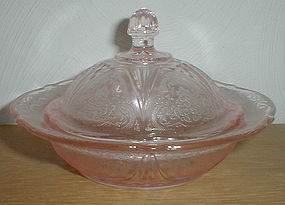 Pink ROYAL LACE Butter Dish