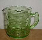 Green KELLOGG'S 3 Spout Measuring Cup