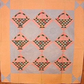 Baskets Quilt; Circa 1920; Pennsylvania