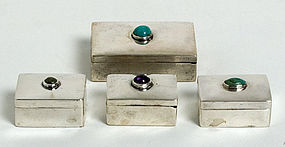 Fred Davis Silver Pillboxes
