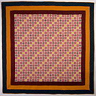 Miniature Evening Stars Quilt: Circa 1870; Pa.