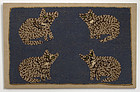 Cats Hooked Rug: Circa 1920; Pennsylvania