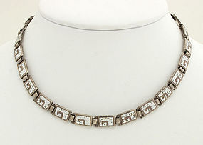 Margot de Taxco Silver and Enamel Necklace