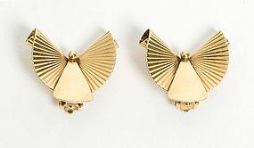 Gold Retro Earrings