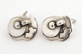 Sam Kramer Silver Cufflinks; circa 1950