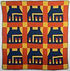 Schoolhouse Quilt: Circa 1890; Delaware