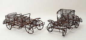 Wire Sculpture Automobiles