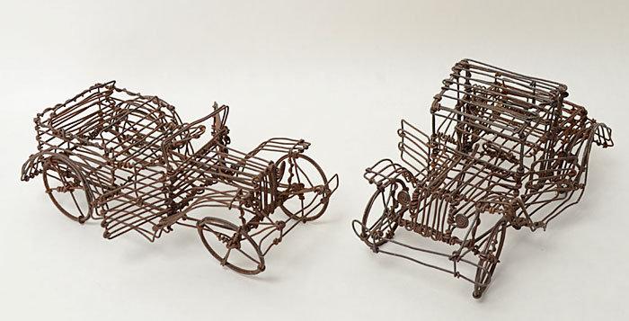 Wire Sculpture Automobiles
