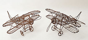 Airplane Wire Sculptures: Circa 1930