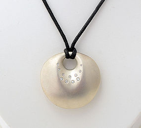 Robert Lee Morris Silver Pendant with Diamonds