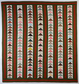 Wild Goose Chase Quilt: Circa 1870; New Jersey