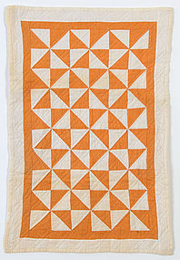 Broken Dishes Doll Quilt: Circa 1890; Pennsylvania