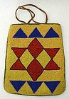 Native American Beaded Bag: Circa 1880