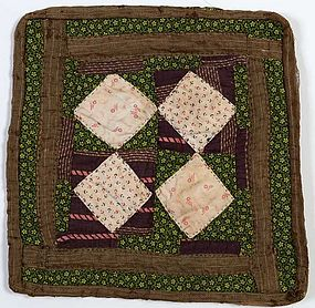 Economy Patch Doll Quilt: Circa 1880; Pennsylvania