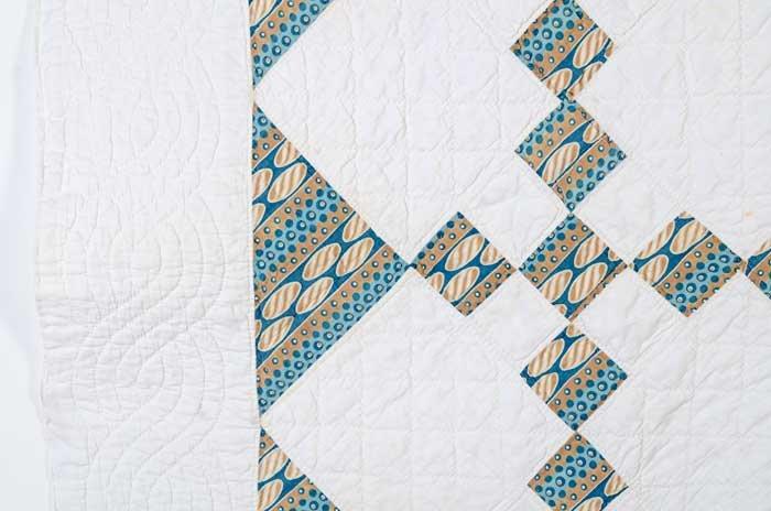 Nine Patch Quilt: Circa 1860; Pennsylvania
