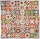 Friendship Sampler Quilt: Signed and Dated 1845: New Jersey