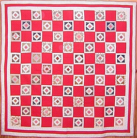 Economy Patch Quilt: Circa 1890; Pennsylvania