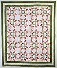 Evening Stars Quilt: Circa 1880; Pennsylvania