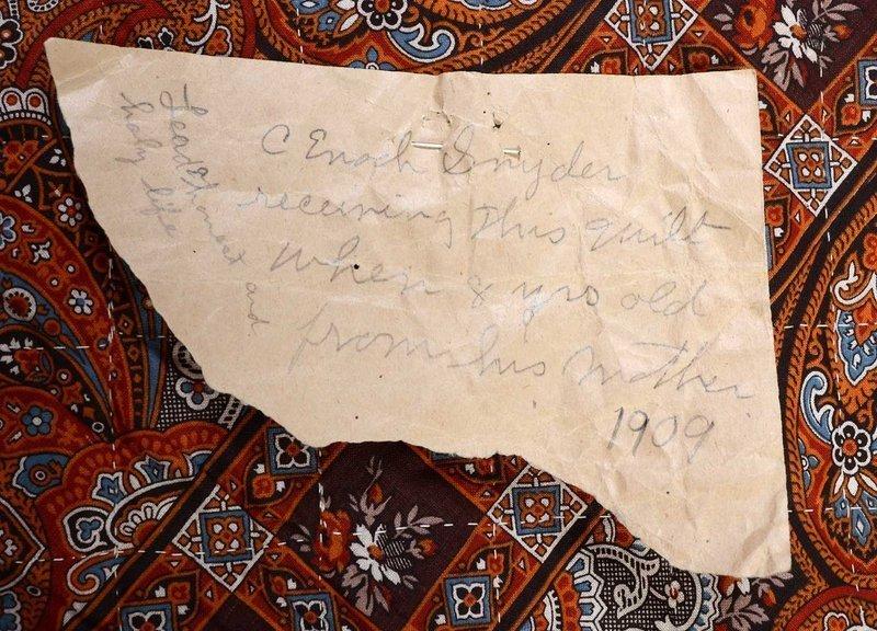Barnraising Log Cabin Quilt: Circa 1880; Pa.