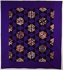 Log Cabin Stars Quilt: Ca. 1880; Kentucky