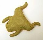 Frog Beanbag Doorstop: Circa 1940; Pa.