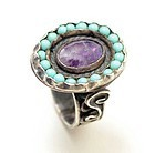 Matl (Matilde Poulat) Ring with Amethyst and Turquoise