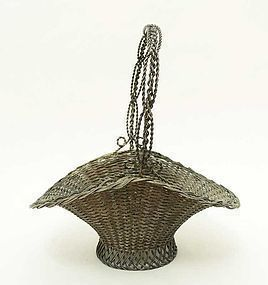 Victorian Wire Basket: Circa 1890