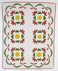 Victory Star Crib Quilt: Circa 1870; Pa.