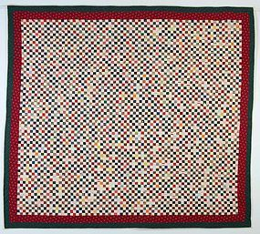Postage Stamp Quilt: Circa 1890; Maryland