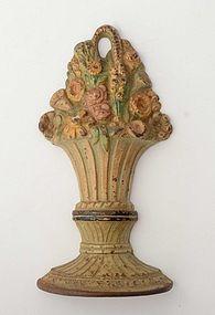 Basket of Flowers Doorstop: Circa 1920