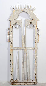 Folk Art Gate in Form of a Face: Ca. 1920