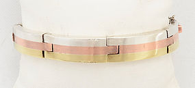 Mixed Metals Bracelet: Circa 1950