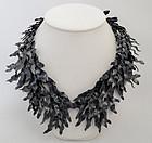 """Eduardo Herrera Oxidized Silver """"Seaweed"""" Necklace"""