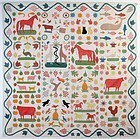 Folk Art Animals Quilt: Circa 1860; Connecticut