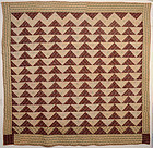 Flying Geese Quilt: Circa 1830