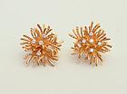 Tiffany Gold and Diamond Earrings
