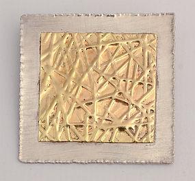 Gold and Silver Brooch by Elizabeth Prior: Ca. 1990's