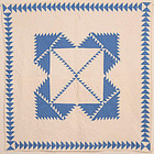 Delectable Mountains Crib Quilt: Circa 1920; Pa.