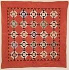 Shadow Boxes Crib Quilt: Circa 1880; Pennsylvania