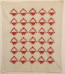Delectable Mountains Crib Quilt: Circa 1860