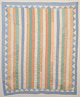 Pastel Shirting Bars Quilt: Ca. 1920; Pa.