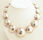 Sterling Silver Circles Necklace by Don Lucas
