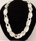 Oval Loops Sterling Silver Necklace