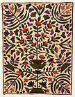 Exuberant Pot of Flowers Crib Quilt: Circa 1870
