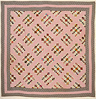 Four Patch in Diamonds Quilt: Circa 1870: Pa.