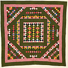 Unique Four Patch Quilt: Circa 1880; Pennsylvania