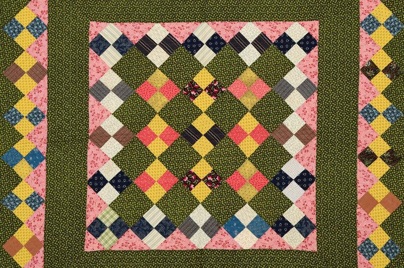 Unique Four Patch Quilt: Circa 1880; Pennsylvania