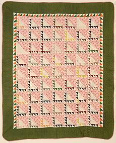 Sawtooth Quilt: Circa 1870; Pennsylvania
