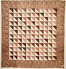 Thousand Pyramids Quilt: Ca. 1830; Pennsylvania